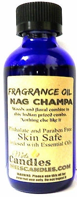 Nag Champa 1oz Blue Glass Bottle of Grade A Skin Safe Fragrance Essential Oil