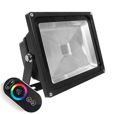 Proyector Led de exterior MICROLED, 50W, RGB-RF. RGB
