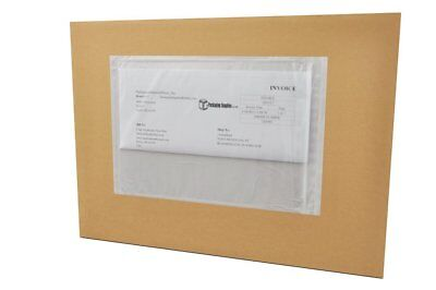 "9""x12"" Clear Plain Re-closable Packing List Style Envelopes 2000 Pouches"