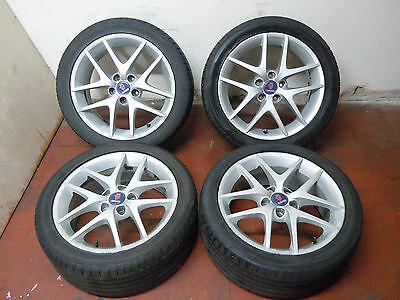 "Saab 93 17"" Alloy Wheels With Tyres 225/45R"