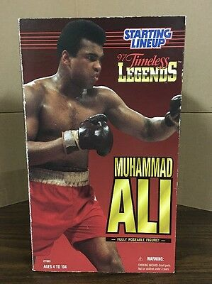 """Starting Lineup  Muhammad Ali 12"""" Poseable Action Figure WITH AUTOGRAPH"""