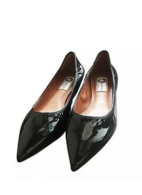 Lanvin  Black Patent Leather Pointy Toe shoes 40 or US 10