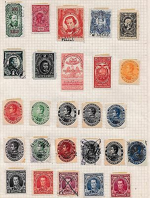 Central & South America Revenue stamps