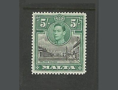 Malta stamps KGVI 5/-  unmounted mint
