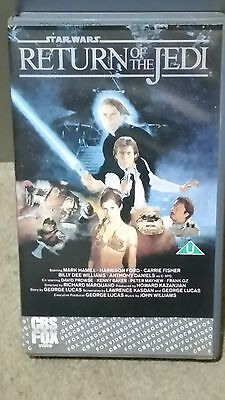 RARE Star wars Return Of The Jedi (VHS, 1986) Ex Rental Video