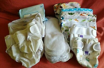 Preloved Reusable Nappy Bundle, Little Bloom, Bambino Moor and Popolini