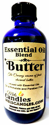 Butter 4 oz / 118.29 ml Blue Glass Bottle of Essential Oil Blend/ Fragrance Oil