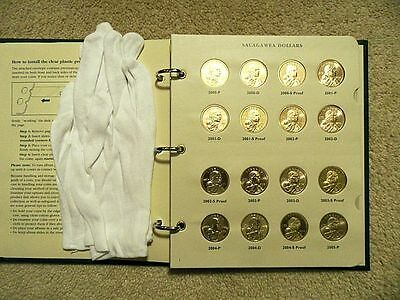 Complete Set Of Sacagawea Dollars 2000 -2016  Coins In New Album From Mint Sets