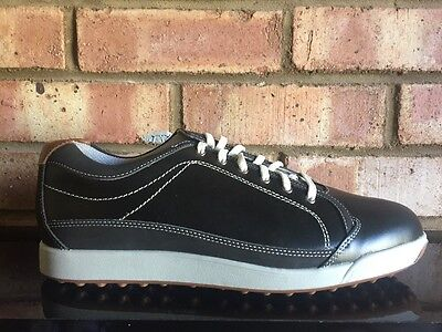 Footjoy Mens Contour Casual Spikeless Golf Shoes Clearance 54244K Black UK 8.5M