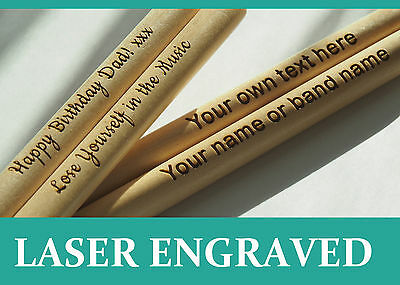 Personalized drum sticks 5A, high quality maple wood | Custom Engraved Gift