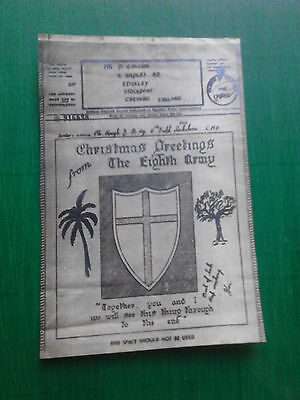 airgraph  1943 8th Army Christmas Greetings