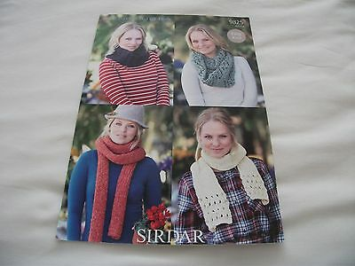 Ladies Snoods & Scarves ~ 4 Styles ~ Chunky Knitting Pattern ~ Easy Knit (9825)