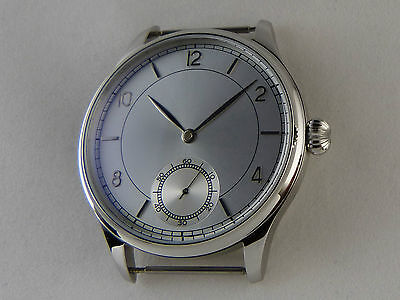 Unitas ETA 6498 SILVER SUNRAY Watch Case + Dial + Hands UhrenGehäuse France