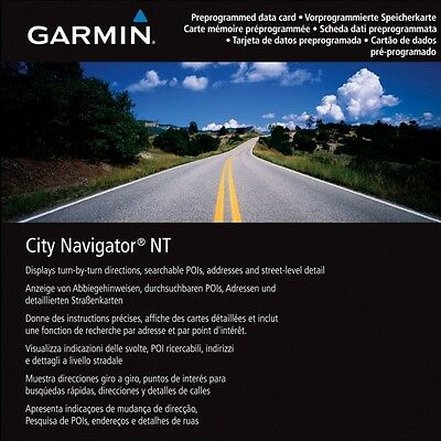 Garmin City Navigator NT 2017 UK & IRELAND ROI Maps SD Card Map Update