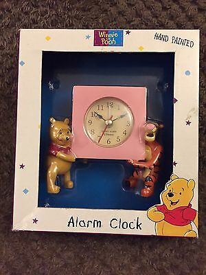 Brand New Hand Painted Winnie The Pooh Collectible Alarm Clock