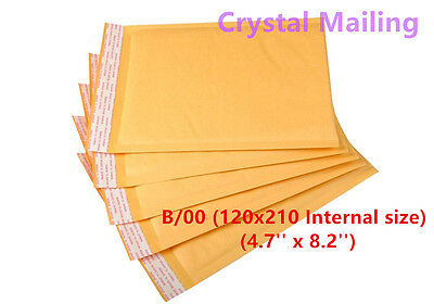 100 B/00 B00 Gold Padded Bubble Lined Postal Envelopes MAIL Cheap 120 x 210mm 4U