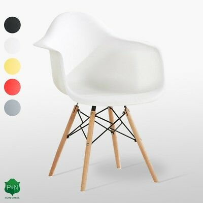 Eiffel Dining Armchair Tub Chair Retro Vintage Style White Black Red and Other