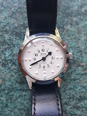 Vintage Timor Time Guide automatic brail Mens watch