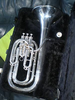 Baritone Horn Silver plated Courtois169  Professional model
