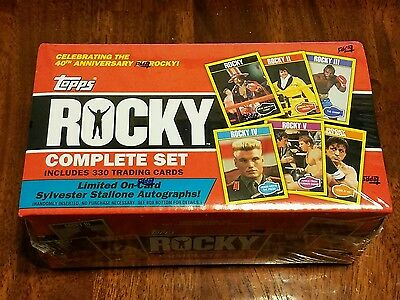 Factory sealed Topps 40th anniversary Rocky Movies 1-5 330-card complete set