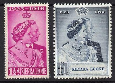 Sierra Leone Silver Wedding Set of Stamps c1948 Mounted Mint