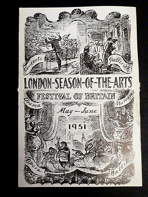 1951 Single Sheet Festival of Britain Arts Flyer/Programme ?? or page