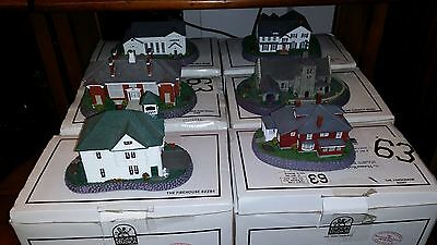 Norman Rockwell Home Town Main Street Collectibles 6 Historic Buildings In Boxes