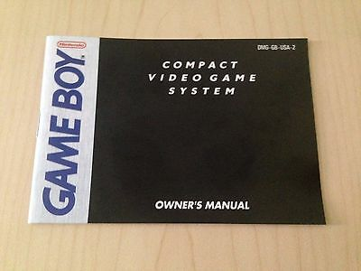 Game Boy Original System Console Instruction Booklet - MANUAL ONLY
