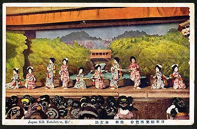Vintage Japan 1925 Kobe Silk Exhibition entertainment Postcard