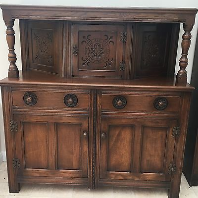 Solid Oak Court Cupboard Sideboard