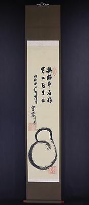JAPANESE HANGING SCROLL ART Painting  Asian antique  #E5824