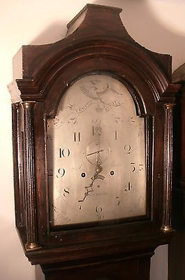"Antique  Oak Eight Day  "" Plymouth "" Longcase / Grandfather Clock"