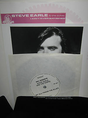 "Steve Earle And The Dukes  Mca Records 7"" Promo Package With Single And Picture"