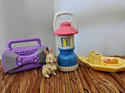 Fisher-Price Loving Family Dollhouse Camping Accessories Lantern Boom Box Food
