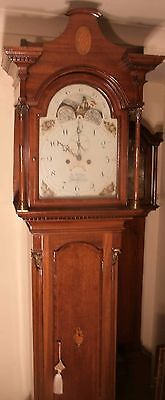 "Antique Mahogany "" Sherborne "" Moon Dial Longcase / Grandfather Clock"