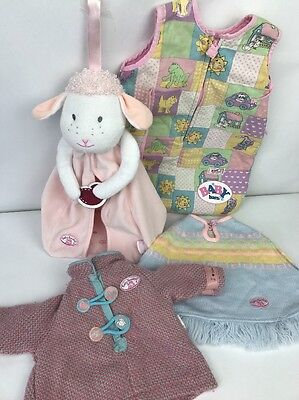 Zapf Creation Baby Annabell + Baby Born Clothes Bundle Fit Doll Dress Sleep Suit