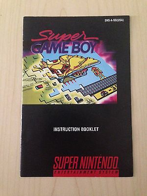 Super Game Boy Super Nintendo SNES Instruction Booklet - MANUAL ONLY