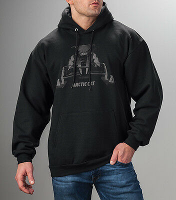 Arctic Cat Men's Black Ghost Snowmobile Hoodie Sweatshirt L XL 2XL 5279-494