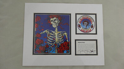 GRATEFUL DEAD  SKELETON & ROSES signed and numbered  STANLEY MOUSE LITHOGRAPH