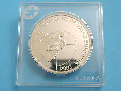 PORTUGAL - 2004 SILVER PROOF 8 EURO COIN - Expansion of EU - High Grade