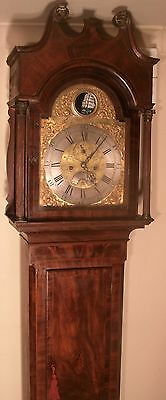 "Antique Mahogany  Automation Ship ""Barnstable "" Longcase / Grandfather Clock"