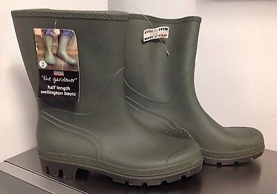 Town & Country Essentials Half Length THE GARDENER Wellington Boots SIZE10 EUR44