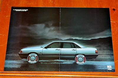 1988 Audi 5000 Cd Turbo For Dunlop Tires Life Preserver Ad - Euro 80S Retro Auto