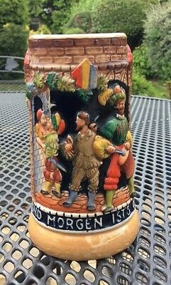 vintage/antique  ornate German beer stein