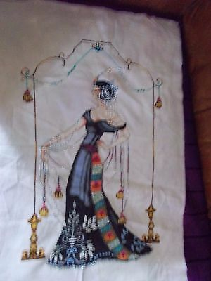 At The Met Completed Cross Stitch.