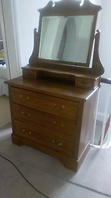 Edwardian dresser satin wood with three drawers + two smaller