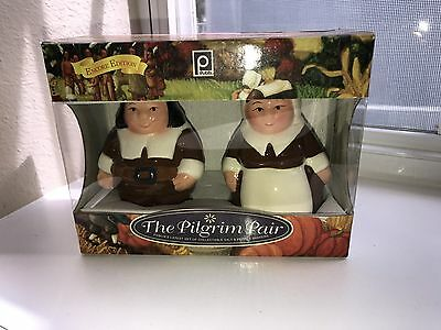 NEW The Pilgrim Pair Publix Collectable Thanksgiving Salt & Pepper Shakers
