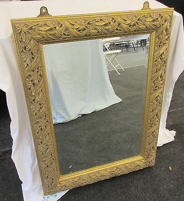 Decorative Carved Wood Gilded Frame Mirror (Charity Sale)