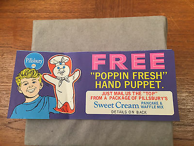 1967 Poppin Fresh Hand Puppet Advertising Certificate