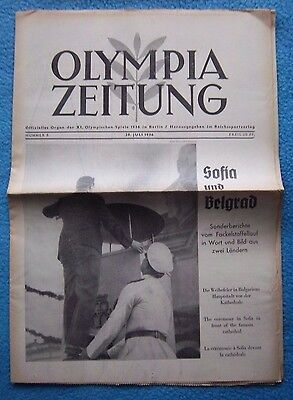 Orig.PRG / Newsletter  Olympic Games BERLIN 1936 - 28.07. // Preview  !!  RARE